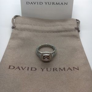 David Yurman Morganite Petite Albion RIng Size 8
